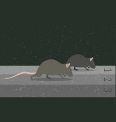 Concept rat race metaphor vector