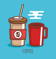 delicious coffee drink icon vector image