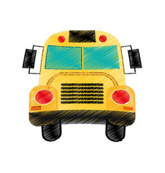 Drawing school bus design vector