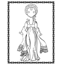 Empire style dress vector