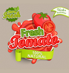 Fresh tomato logo vector