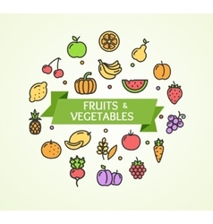 Fruits and Vegetables Concept vector image vector image