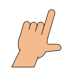 Hands pointing with index finger icon image vector