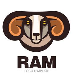 head of horned ram vector image