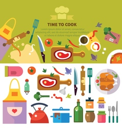 Kitchen cooking vector image vector image