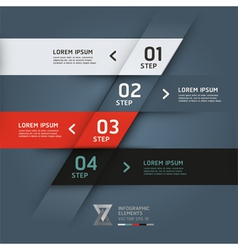 Modern origami options banner vector image