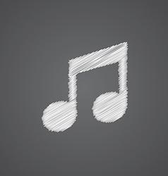 music sketch logo doodle icon vector image vector image