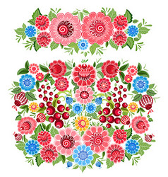 Ornate collection of fancy decoration floral vector