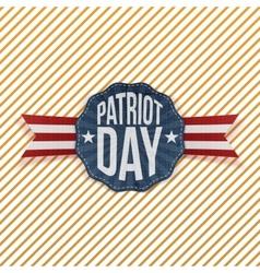 Patriot day text on festive emblem vector