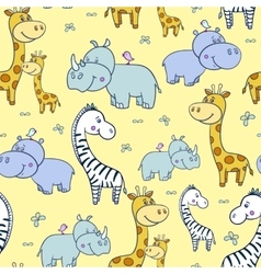 pattern with zebras and Hippogiraffe4-01 vector image vector image