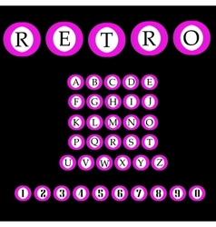 Retro alphabet font ABC letters vector image