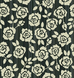 Retro floral seamless background with roses vector image vector image