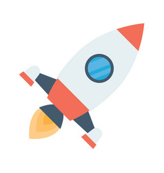 rocket space ship take off vector image vector image