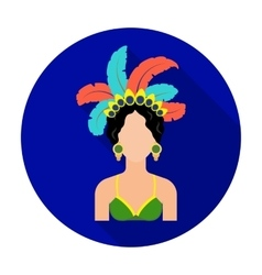 Samba dancer icon in flat style isolated on white vector