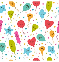 Seamless pattern with balloons of different colors vector image
