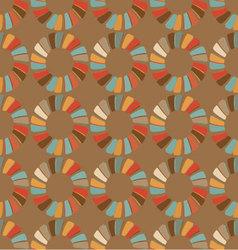 seamless retro circular ornament-01 vector image