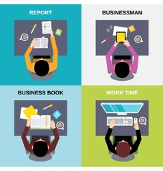 Top view businessman set vector image vector image