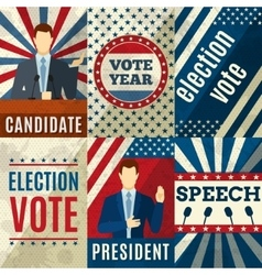 Vintage politics posters vector