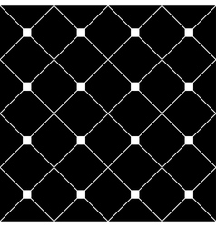 White Square Diamond Grid Black Background vector image vector image