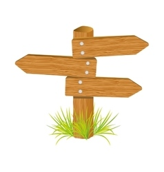 Wooden arrow guide sign vector