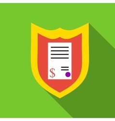 Protection agreement icon flat style vector