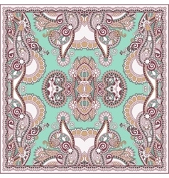 Authentic silk neck scarf or kerchief square vector