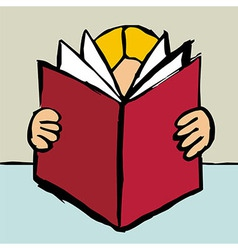 Reading big red book vector