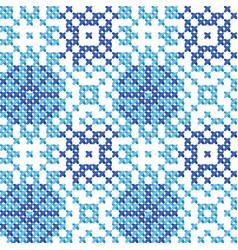 Cross stitch ornament vector