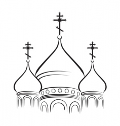 Cathedral cupola vector