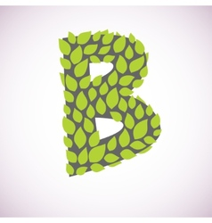 Letter like a bush vector