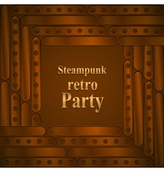 Steampunk retro partyframe vector