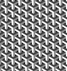 Abstract isometric 3d pattern background vector