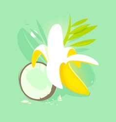 Banana coconut vector
