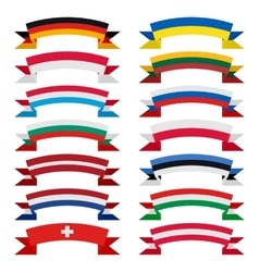 Ribbons of countries vector