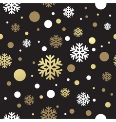 Seamless black christmas wallpaper with white and vector
