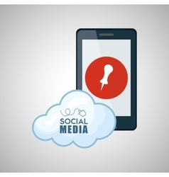 Social media design smartphone icon networking vector