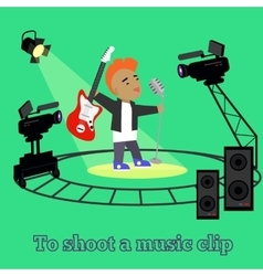 Music clip shootings camera and projector vector