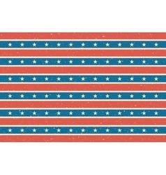 Stripes and stars background usa flag design vector