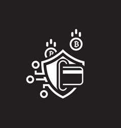 bitcoin secure transaction icon vector image