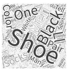 Black shoes word cloud concept vector