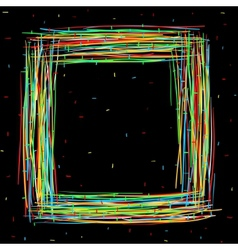 Black square frame vector image