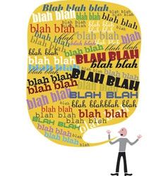 Blah blah talk vector