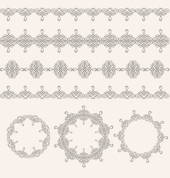 borders and round frames set collection in vector image vector image
