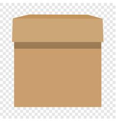 cardboard box mockup realistic style vector image vector image