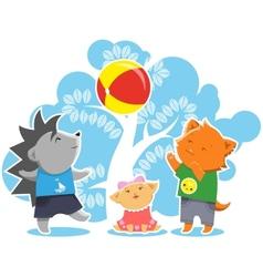 Children game vector