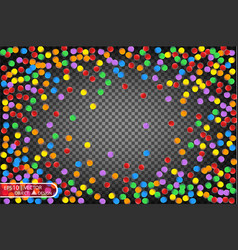 colorful multicolored confetti festive vector image