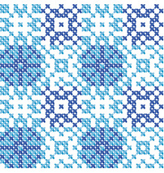 Cross stitch ornament vector