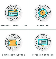 Currency protection planning e-mail newsletter vector