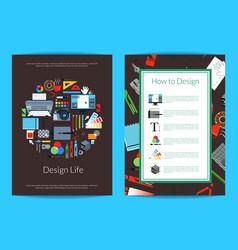 digital art design studio card template vector image vector image