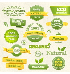 Eco Stamps Banners and Labels vector image
